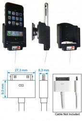 Support voiture  Brodit Apple iPhone 2G  pour fixation cable - Pour câble composite AV Apple. Avec rotule. Avec revêtement &quot