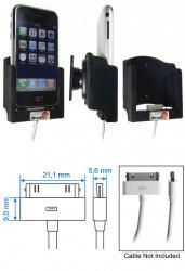 Support voiture  Brodit Apple iPhone 2G  pour fixation cable - Câble d'origine petite pomme. Surface &quot