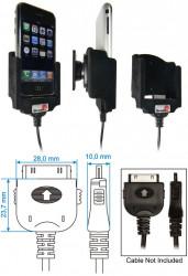 Support voiture  Brodit Apple iPhone 2G  pour fixation cable - Pour charger le câble de style de câble et Neo Prolink. Surface &quot