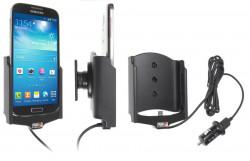 Support voiture  Brodit Samsung Galaxy S4 GT-I9505  avec chargeur allume cigare - Avec rotule. Avec câble USB. Réf 521526