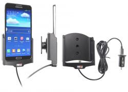 Support voiture  Brodit Samsung Galaxy Note 3 SM-N9005  avec chargeur allume cigare - Avec rotule. Avec câble USB. Réf 521564