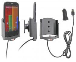 Support voiture  Brodit Motorola Moto G  avec chargeur allume cigare - Avec rotule. Avec câble USB. Réf 521599