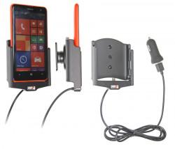 Support voiture  Brodit Nokia Lumia 625  avec chargeur allume cigare - Avec rotule. Avec câble USB. Réf 521603