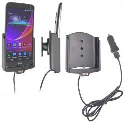Support voiture  Brodit LG G Flex  avec chargeur allume cigare - Avec rotule. Avec câble USB. Réf 521604