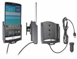 Support voiture  Brodit LG G3  avec chargeur allume cigare - Avec rotule. Avec câble USB. Réf 521645