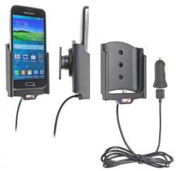 Support voiture  Brodit Samsung Galaxy S5 Mini SM-G800F  avec chargeur allume cigare - Avec rotule. Avec câble USB. Réf 521649