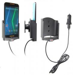 Support voiture  Brodit Motorola Moto X (2nd Gen)  avec chargeur allume cigare - Avec chargeur voiture USB. Avec rotule. Réf 521679