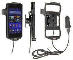 Support voiture  Brodit Sony Xperia E3  avec chargeur allume cigare - Avec rotule. Avec câble USB. Réf 521712