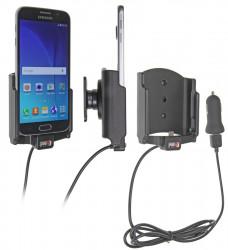 Support voiture  Brodit Samsung Galaxy S6  avec chargeur allume cigare - Avec rotule. Avec câble USB. Réf 521723