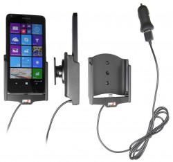 Support voiture  Brodit Microsoft Lumia 640  avec chargeur allume cigare - Avec rotule. Avec câble USB. Réf 521746