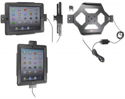 Support voiture  Brodit Apple iPad New (3rd Gen)  antivol - Support actif pour une installation fixe. Avec rotule. 2 clefs. Pour  étui Otterbox Defender (non livré). Réf 536395