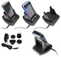 Support voiture  Brodit Motorola TC55  de table, bureau - Avec câble d'alimentation, adaptateurs inclus à travers le monde. Pour appareil avec et sans  l'étui d'origine, convient aussi appareils avec une batterie à la fois mince et étendue. Réf 215672