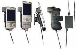 Support voiture  Brodit Nokia 6710 Navigator  installation fixe - Avec rotule, connectique Molex. Chargeur 2A. Réf 513062
