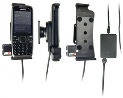Support voiture  Brodit Nokia E55  installation fixe - Avec rotule, connectique Molex. Chargeur 2A. Réf 513074