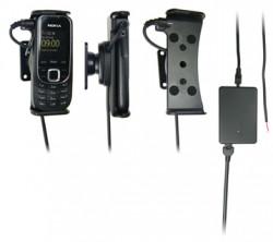 Support voiture  Brodit Nokia 2323 Classic  installation fixe - Avec rotule, connectique Molex. Chargeur 2A. Réf 513082