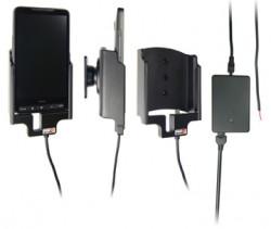 Support voiture  Brodit HTC HD2  installation fixe - Avec rotule, connectique Molex. Chargeur 2A. Réf 513086