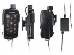 Support voiture  Brodit Samsung Omnia Pro B7610  installation fixe - Avec rotule, connectique Molex. Chargeur 2A. Pour position fermée. Réf 513098