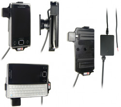 Support voiture  Brodit Sony Ericsson Xperia X2  installation fixe - Avec rotule, connectique Molex. Chargeur 2A. Réf 513111