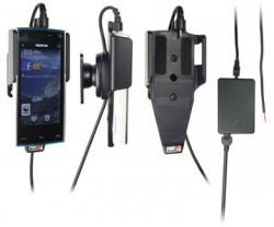 Support voiture  Brodit Nokia X6  installation fixe - Avec rotule, connectique Molex. Chargeur 2A. Réf 513125