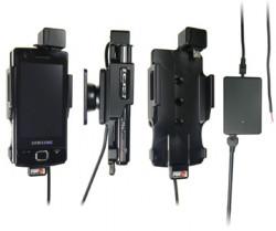 Support voiture  Brodit Samsung Omnia Lite GT-B7300  installation fixe - Avec rotule, connectique Molex. Chargeur 2A. Réf 513131