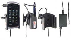 Support voiture  Brodit Sony Ericsson Vivaz  installation fixe - Avec rotule, connectique Molex. Chargeur 2A. Réf 513133