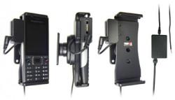 Support voiture  Brodit Sony Ericsson Elm  installation fixe - Avec rotule, connectique Molex. Chargeur 2A et Pass-Through Connector pour la connectivité casque. Réf 513134