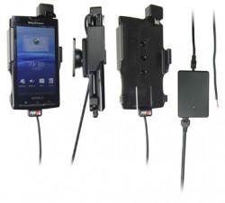 Support voiture  Brodit Sony Ericsson Xperia X10  installation fixe - Avec rotule, connectique Molex. Chargeur 2A. Réf 513137