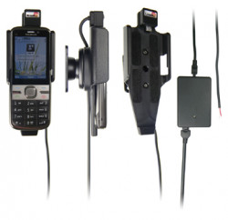 Support voiture  Brodit Nokia C5-00  installation fixe - Avec rotule, connectique Molex. Chargeur 2A. Réf 513148