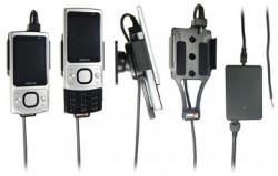 Support voiture  Brodit Nokia 6700 Slide  installation fixe - Avec rotule, connectique Molex. Chargeur 2A. Réf 513151