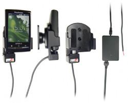 Support voiture  Brodit Sony Ericsson Xperia X10 mini  installation fixe - Avec rotule, connectique Molex. Chargeur 2A. Réf 513155