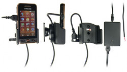 Support voiture  Brodit Samsung S5230  installation fixe - Avec rotule, connectique Molex. Chargeur 2A. Réf 513161