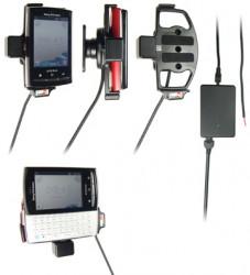 Support voiture  Brodit Sony Ericsson Xperia X10 Mini Pro  installation fixe - Avec rotule, connectique Molex. Chargeur 2A. Réf 513171