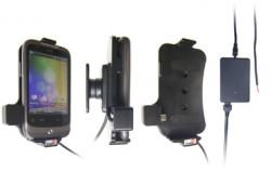 Support voiture  Brodit HTC Wildfire  installation fixe - Avec rotule, connectique Molex. Chargeur 2A. Réf 513172