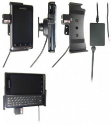 Support voiture  Brodit Motorola Droid 2  installation fixe - Avec rotule, connectique Molex. Chargeur 2A. Réf 513185