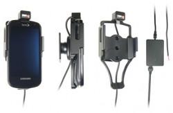 Support voiture  Brodit Samsung Epic 4G  installation fixe - Avec rotule, connectique Molex. Chargeur 2A. Pour un montant position fermée. Réf 513189