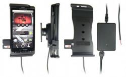 Support voiture  Brodit Motorola Droid X  installation fixe - Avec rotule, connectique Molex. Chargeur 2A. Réf 513190