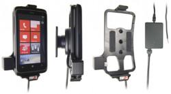 Support voiture  Brodit HTC 7 Trophy  installation fixe - Avec rotule, connectique Molex. Chargeur 2A. Réf 513199
