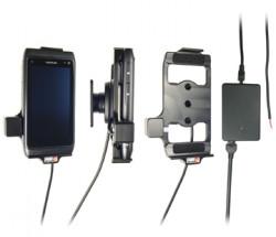 Support voiture  Brodit Nokia N8  installation fixe - Avec rotule, connectique Molex. Chargeur 2A. Réf 513205