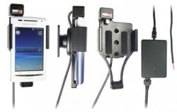 Support voiture  Brodit Sony Ericsson X8  installation fixe - Avec rotule, connectique Molex. Chargeur 2A. Réf 513206