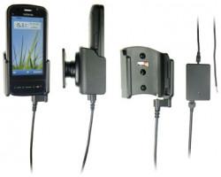 Support voiture  Brodit Nokia C6-00  installation fixe - Avec rotule, connectique Molex. Chargeur 2A. Pour un montant position fermée. Réf 513210