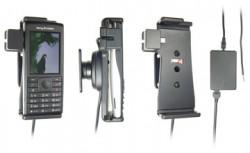 Support voiture  Brodit Sony Ericsson Cedar  installation fixe - Avec rotule, connectique Molex. Chargeur 2A. Réf 513218