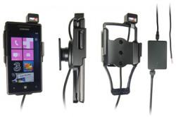 Support voiture  Brodit Samsung Omnia 7  installation fixe - Avec rotule, connectique Molex. Chargeur 2A. Réf 513221