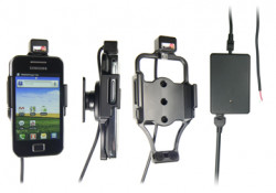Support voiture  Brodit Samsung Galaxy Ace  installation fixe - Avec rotule, connectique Molex. Chargeur 2A. Réf 513243