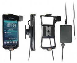 Support voiture  Brodit Sony Ericsson Xperia arc  installation fixe - Avec rotule, connectique Molex. Chargeur 2A. Réf 513249