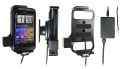 Support voiture  Brodit HTC Wildfire S  installation fixe - Avec rotule, connectique Molex. Chargeur 2A. Réf 513256