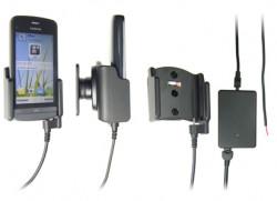 Support voiture  Brodit Nokia C5-03  installation fixe - Avec rotule, connectique Molex. Chargeur 2A. Réf 513262