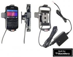 Support voiture  Brodit BlackBerry Curve 9350  installation fixe - Avec rotule, connectique Molex. Chargeur 2A. Réf 513267