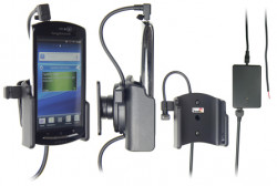 Support voiture  Brodit Sony Ericsson Xperia neo  installation fixe - Avec rotule, connectique Molex. Chargeur 2A. Réf 513269