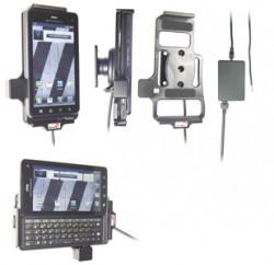 Support voiture  Brodit Motorola Droid 3  installation fixe - Avec rotule, connectique Molex. Chargeur 2A. Réf 513280