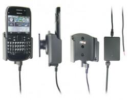 Support voiture  Brodit Nokia E6-00  installation fixe - Avec rotule, connectique Molex. Chargeur 2A. Réf 513283